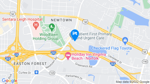 Extended Stay America - Virginia Beach Map