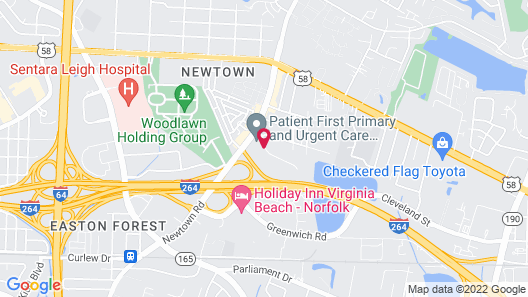 Extended Stay America Suites Virginia Beach Map