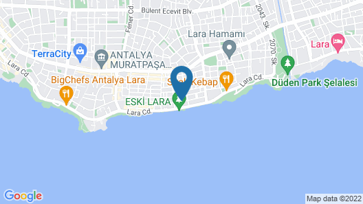 Antalya NUN Hotel Map