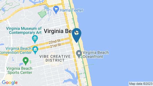 Coastal Hotel and Suites Virginia Beach Oceanfront Map