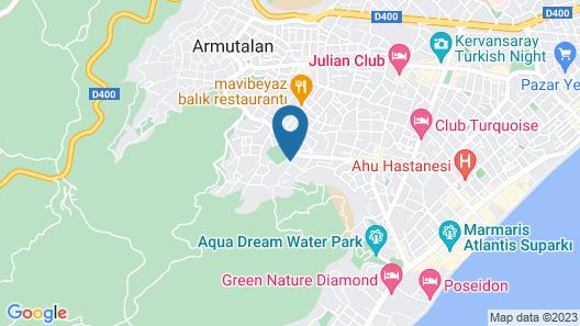 Kervansaray Marmaris Hotel & Aparts - All Inclusive Map
