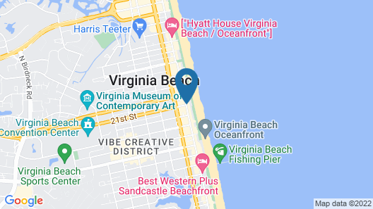 Holiday Inn Oceanside- VA Beach Map