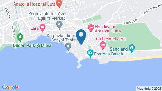 Tourist Hotel Antalya Map