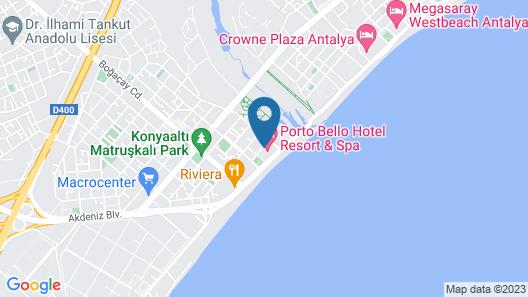 Porto Bello Hotel Resort & Spa Map