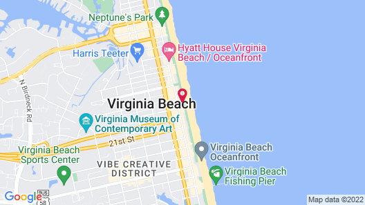 Comfort Suites Beachfront Map
