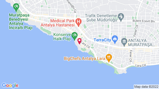 La Boutique Hotel Antalya-Adults Only Map
