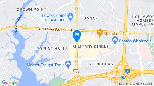 Econo Lodge at Military Circle Map