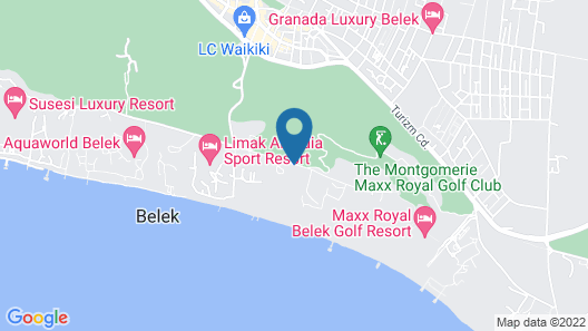 Güral Premier Belek - All Inclusive Map