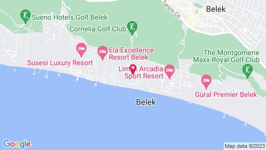 Aquaworld Belek Map