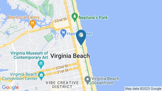 Courtyard by Marriott Virginia Beach Oceanfront South Map