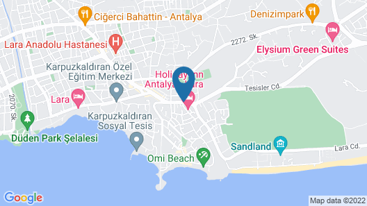 Holiday Inn Antalya - Lara Map