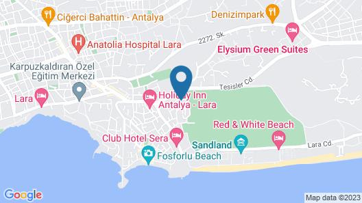 Lara Hadrianus Hotel Map