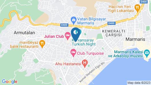 Club Atrium Marmaris Map