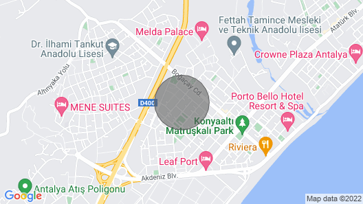 Hun Club Luxury Apartments for Rent in Antalya Map