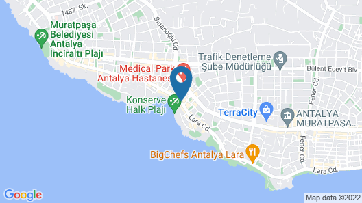 Nun Otel & Spa Map