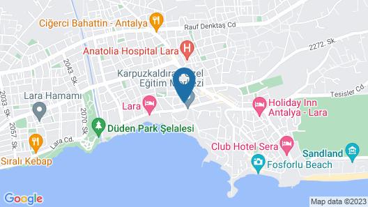 El Mundo Suites Map