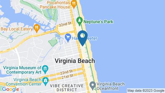 The Ocean Reef Suites at Virginia Beach Map