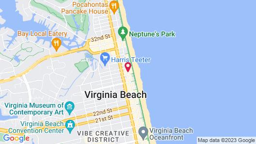 Clarion Inn & Suites Virginia Beach Map