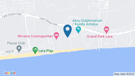 Titanic Beach Lara - All Inclusive Map