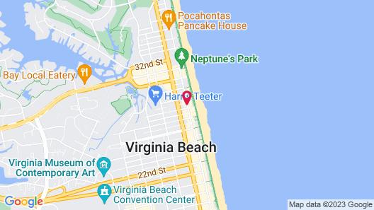 Hyatt House Virginia Beach / Oceanfront Map