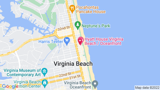 Econo Lodge Virginia Beach - On The Ocean Map
