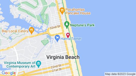 Travelodge by Wyndham Virginia Beach Map