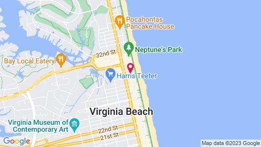 Ramada Plaza by Wyndham Virginia Beach Map