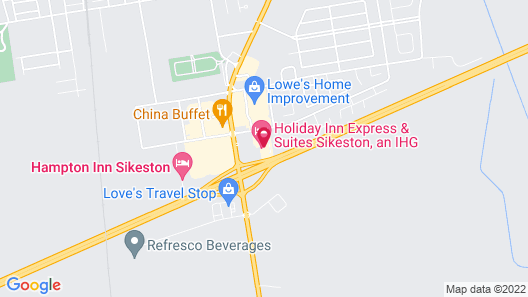 Hampton Inn Sikeston Map