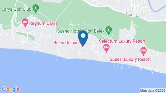 Bellis Deluxe Hotel - All Inclusive Map