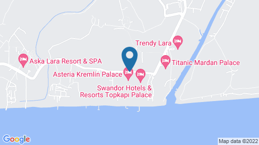 Asteria Kremlin Palace - All Inclusive Map