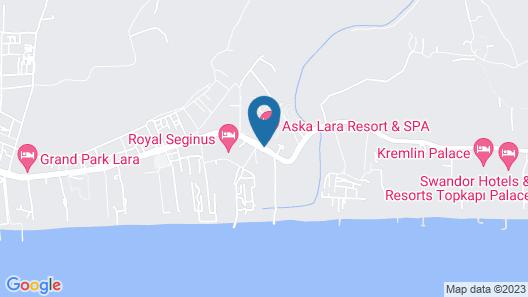 Aska Lara Resort & Spa Map