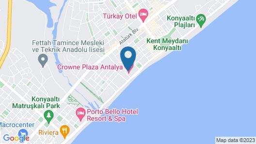 Crowne Plaza Hotel Antalya, an IHG Hotel Map