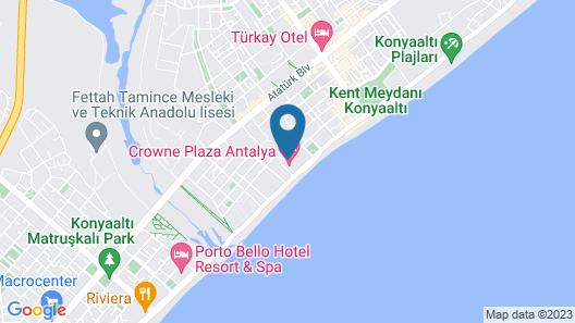 Crowne Plaza Hotel Antalya Map