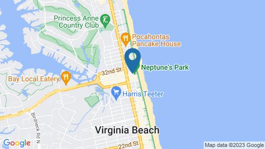 Hampton Inn Virginia Beach-Oceanfront North Map