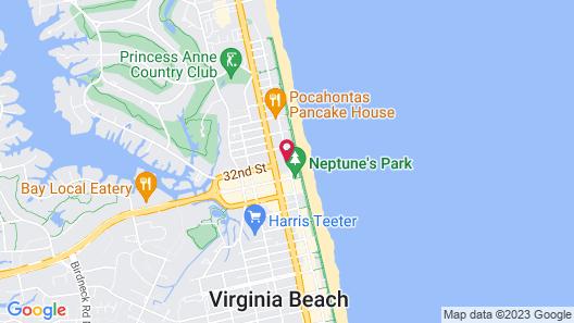 Residence Inn by Marriott Virginia Beach Oceanfront Map