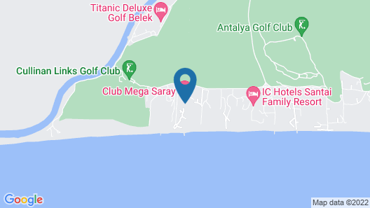 Club Mega Saray - All Inclusive Map