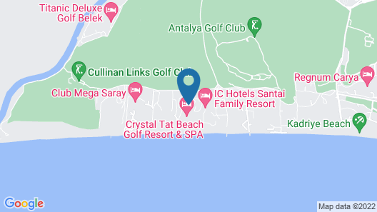 Crystal Tat Beach Golf Resort & Spa- All Inclusive Map