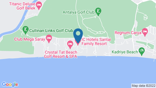 IC Hotels Santai Family Resort - All Inclusive Map