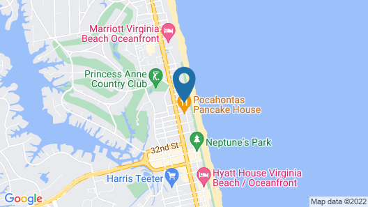 Sheraton Virginia Beach Oceanfront Hotel Map