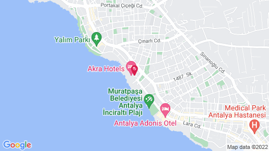 Akra Hotel Map
