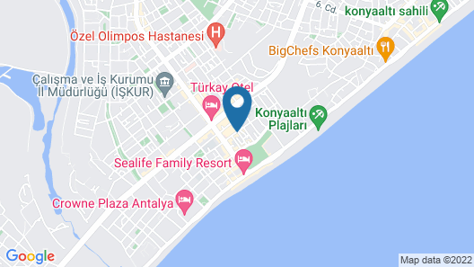 Melles Hotel & Apart Map