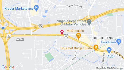 Sleep Inn & Suites Chesapeake - Portsmouth Map