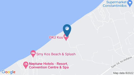 OKU Hotel Kos Map