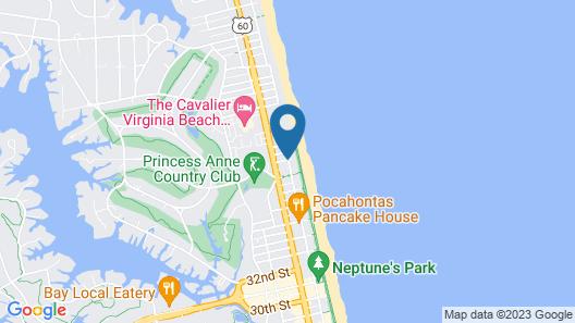 Holiday Inn & Suites Virginia Beach North Beach Map