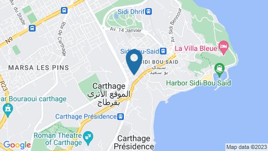Maison coquette Sidi Bou Said Map
