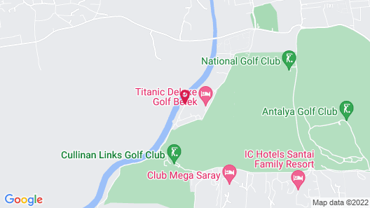 Titanic Deluxe Golf Belek - All Inclusive Map