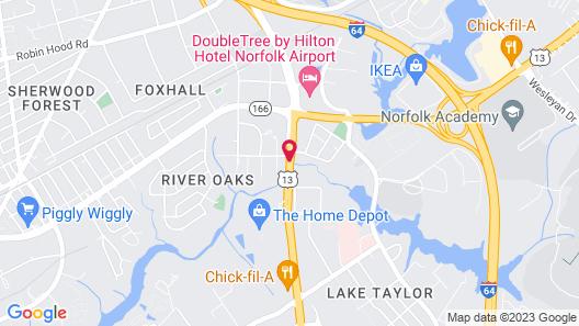 La Quinta Inn & Suites by Wyndham Norfolk Airport Map