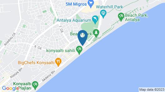 The Corner Park Hotel Map