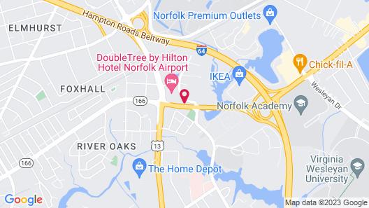 Hampton Inn & Suites Norfolk-Airport Map