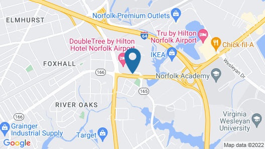Hampton Inn & Suites Norfolk-Airport Map